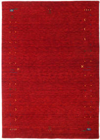 Gabbeh Loom Frame - Red Rug 160X230 Modern Crimson Red/Dark Red (Wool, India)