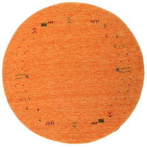 Gabbeh Loom Frame - Orange Tapis Ø 150 Moderne Rond Orange (Laine, Inde)