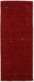 Gabbeh Loom Frame - Red Rug 80X200 Modern Hallway Runner  Dark Red (Wool, India)