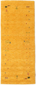 Gabbeh Loom Frame - Yellow Rug 80X200 Modern Hallway Runner  Orange (Wool, India)