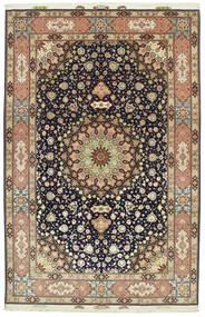 Tabriz 60 Raj silkerenning signert: Hassanzadeh teppe VEXN36