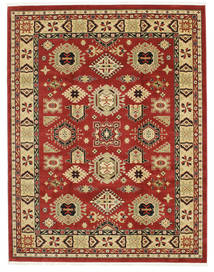 Shirvan Kazak Rug 7′10″X9′10″ Modern Dark Red/Dark Beige ( Turkey)