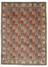 ムード 絨毯 295X400 オリエンタル 手織り 薄茶色/濃いグレー 大きな (ウール/絹, ペルシャ/イラン)