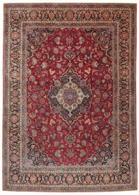 Keshan Teppich 275X385 Echter Orientalischer Handgeknüpfter Dunkelrot/Dunkelbraun Großer (Wolle, Persien/Iran)