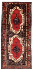 Kurdi Tæppe 148X330 Ægte Orientalsk Håndknyttet Tæppeløber Mørkebrun/Rust (Uld, Persien/Iran)