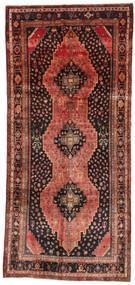 Kurdi Matta 148X335 Äkta Orientalisk Handknuten Hallmatta Mörkbrun/Brun (Ull, Persien/Iran)