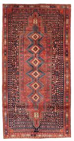 Kurdi Tapijt 153X305 Echt Oosters Handgeknoopt Donkerrood/Roestkleur (Wol, Perzië/Iran)
