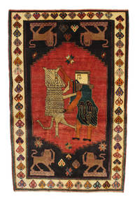 Ghashghai Tapijt 120X188 Echt Oosters Handgeknoopt Zwart/Roestkleur (Wol, Perzië/Iran)