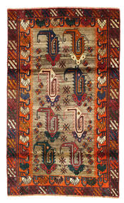 Ghashghai Matta 110X185 Äkta Orientalisk Handknuten Mörkröd/Ljusbrun (Ull, Persien/Iran)
