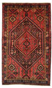 Hamadan Tapijt 133X221 Echt Oosters Handgeknoopt Zwart/Donkerrood (Wol, Perzië/Iran)
