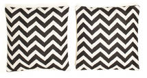 Tapis Taie de coussin - Zebra Noir CVD8334