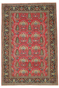 Kashan Patina Semnat: Rabani Covor 255X370 Orientale Lucrat Manual Roșu-Închis/Maro Deschis Mare (Lână, Persia/Iran)