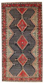 Koliai Tapijt 148X290 Echt Oosters Handgeknoopt Tapijtloper Donkerpaars/Bruin (Wol, Perzië/Iran)