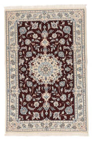 Nain 9La Matta 88X136 Äkta Orientalisk Handknuten Beige/Vit/Cremefärgad (Ull/Silke, Persien/Iran)