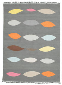 Leaves - Grey Rug 160X230 Authentic  Modern Handwoven Light Grey (Wool, India)