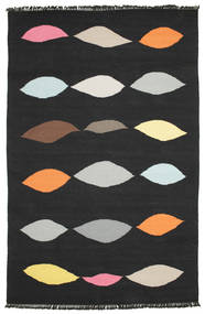 Leaves - Black Rug 190X290 Authentic  Modern Handwoven Black (Wool, India)