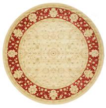 Farahan Ziegler - Beige/Rot Teppich  Ø 300 Orientalischer Rund Gelb/Beige Großer ( Türkei)