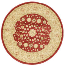 Farahan Ziegler - Red Rug Ø 150 Oriental Round Yellow/Dark Red ( Turkey)