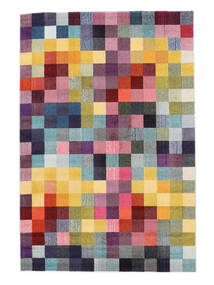 Torrent Rug 140X200 Modern Dark Purple/Yellow ( Turkey)