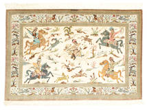 Qum silk pictorial signed: Qum Sharifi carpet VEXX81