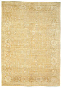 Oushak Rug 282X397 Authentic  Oriental Handknotted Yellow/Light Brown Large (Wool, Turkey)