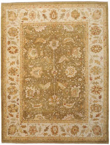 Oushak Rug 307X397 Authentic  Oriental Handknotted Light Brown/Brown Large (Wool, Turkey)