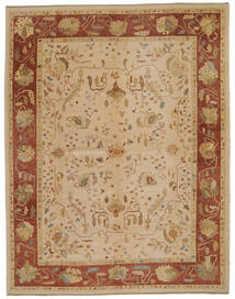 Oushak Rug 315X401 Authentic  Oriental Handknotted Light Brown/Dark Beige Large (Wool, Turkey)