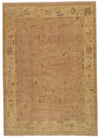 Oushak Rug 277X392 Authentic  Oriental Handknotted Light Brown/Brown Large (Wool, Turkey)