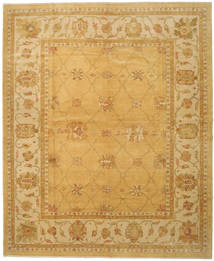 Oushak Rug 328X396 Authentic  Oriental Handknotted Light Brown/Brown Large (Wool, Turkey)