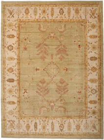 Oushak Rug 380X505 Authentic  Oriental Handknotted Light Brown Large (Wool, Turkey)