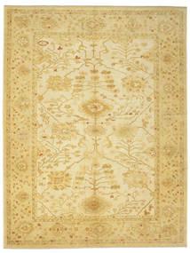 Usak Teppich  335X436 Echter Orientalischer Handgeknüpfter Gelb Großer (Wolle, Türkei)