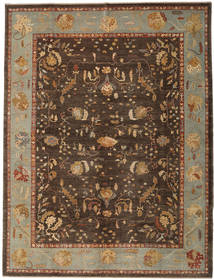 Oushak Rug 325X425 Authentic  Oriental Handknotted Dark Brown/Brown Large (Wool, Turkey)