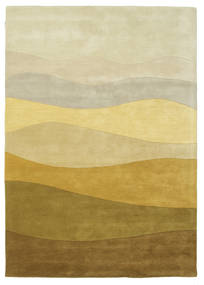 Feeling Handtufted - Brown Rug 160X230 Modern Dark Beige/Olive Green (Wool, India)
