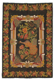 Rose Kelim Rug 176X256 Authentic  Oriental Handwoven Dark Grey/Brown (Wool, Moldova)