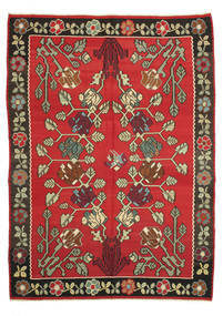 Kilim Semi Antique Rug 222X307 Authentic  Oriental Handwoven Rust Red/Dark Brown (Wool, Slovenia)