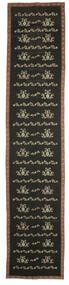 Kelim Bulgarian Matta 174X850 Äkta Orientalisk Handvävd Hallmatta Mörkgrå/Brun (Ull, Bulgarien)