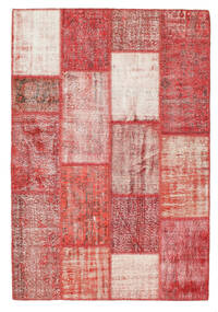 Patchwork Rug 160X234 Authentic  Modern Handknotted Rust Red/Light Pink (Wool, Turkey)