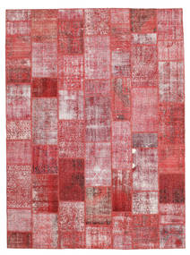 Patchwork Teppich  272X369 Echter Moderner Handgeknüpfter Rost/Rot/Hellrosa Großer (Wolle, Türkei)