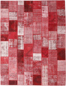 Patchwork Rug 302X399 Authentic  Modern Handknotted Crimson Red/Light Pink Large (Wool, Turkey)
