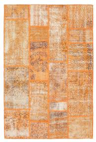 Patchwork Teppe 141X211 Ekte Moderne Håndknyttet Lysbrun/Orange (Ull, Tyrkia)
