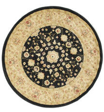 Farahan Ziegler - Black Rug Ø 150 Oriental Round Yellow/Black ( Turkey)
