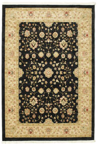 Farahan Ziegler - Black Rug 140X200 Oriental Black/Yellow ( Turkey)