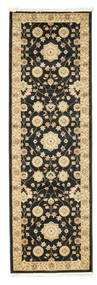 Farahan Ziegler - Black Rug 80X250 Oriental Hallway Runner  Black/Light Brown ( Turkey)