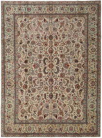 Tabriz Patina Rug 293X397 Authentic  Oriental Handknotted Brown/Light Brown/Olive Green Large (Wool, Persia/Iran)