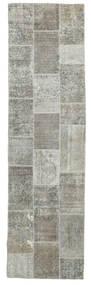 Patchwork Szőnyeg 82X301 Modern Csomózású Világosszürke/Sötétszürke (Gyapjú, Perzsia/Irán)