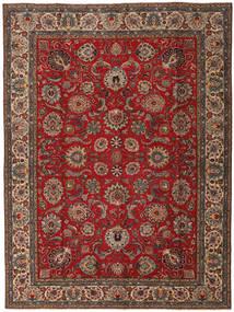 Tabriz Patina Covor 295X392 Orientale Lucrat Manual Maro Închis/Maro Mare (Lână, Persia/Iran)