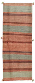Kashkooli Gabbeh Rug 91X238 Authentic Modern Handknotted Hallway Runner Brown/Light Brown (Wool, Persia/Iran)