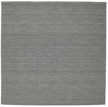 Kilim Loom - Dark Grey Rug 250X250 Authentic  Modern Handwoven Square Light Grey/Dark Grey Large (Wool, India)