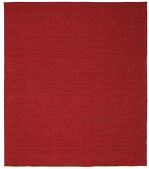 Kilim Loom - Dark Red Rug 250X300 Authentic  Modern Handwoven Crimson Red Large (Wool, India)