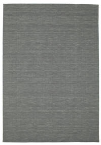 Kilim Loom - Dark Grey Rug 200X300 Authentic  Modern Handwoven Dark Grey/Light Grey (Wool, India)